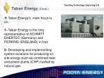 taban energy cont