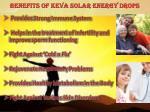 benefits of keva solar energy drops