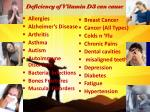 deficiency of vitamin d3 can cause