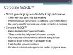 corporate nosql
