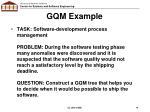 gqm example2