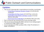 public outreach and communications4