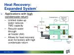 heat recovery expanded system