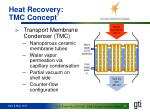 heat recovery tmc concept