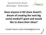 question from anant bhatnagar netcracker