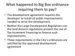 what happened to big box ordinance requiring them to pay