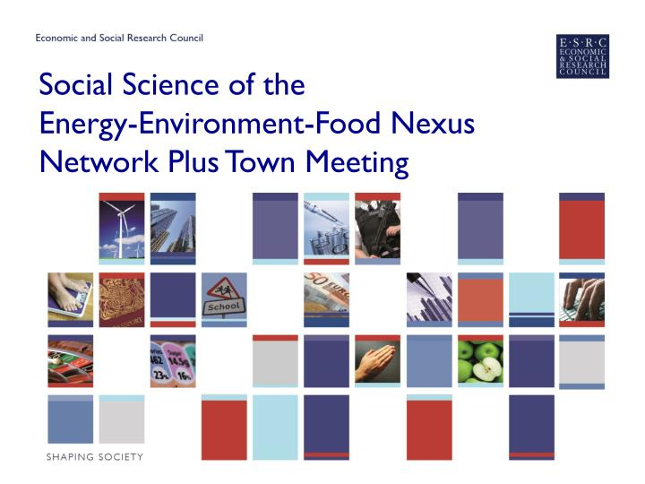 development and environment nexus A cornerstone of the program is the further development and application of the methodology of stochastic optimization, which is used to generate in 2017, iiasa renewed its strategic collaboration with nasu on the topic of robust solutions for the food-water-energy-environment nexus, by.