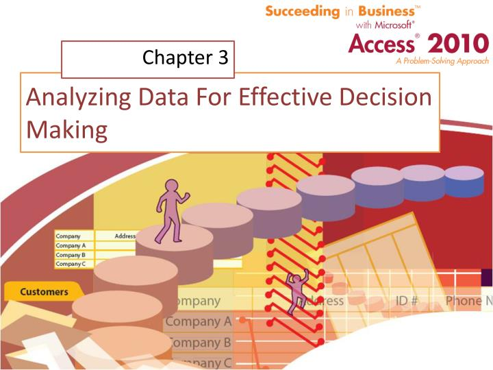 analyzing data for effective decision making n.