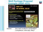 well package proposal example mdp 422