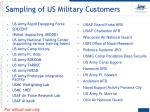 sampling of us military customers