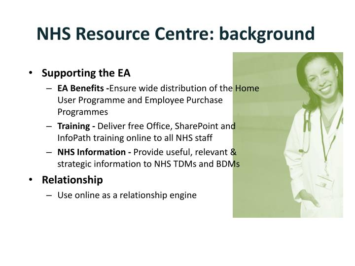nhs resource centre background n.