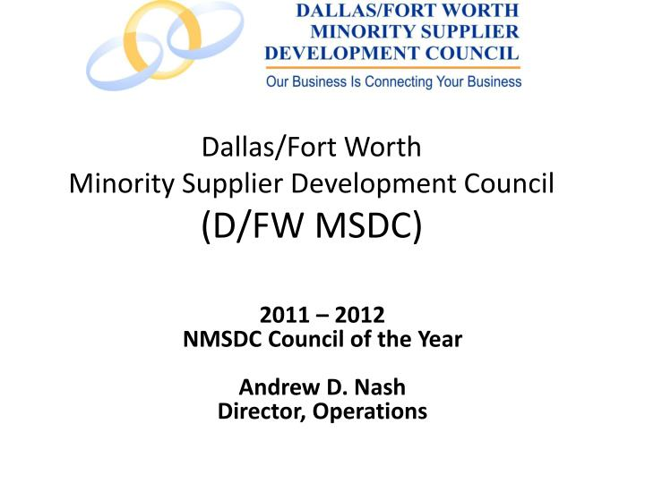 dallas fort worth minority supplier development council d fw msdc n.