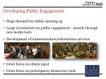 developing public engagement