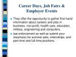 career days job fairs employer events