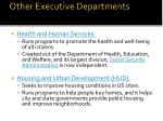 other executive departments