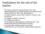 implications for the role of the teacher1