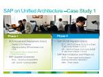 sap on unified architecture case study 1