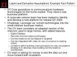latent and derivative assumptions example fact pattern