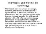 pharmacists and information technology1
