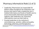 pharmacy informaticist role1 1 of 2
