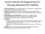 active measure programmes ii housing allowance for mobility