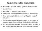 some issues for discussion