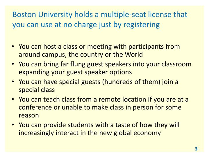 Boston university holds a multiple seat license that you can use at no charge just by registering