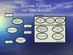business functions use case scenario