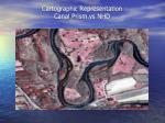 cartographic representation canal prism vs nhd