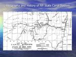 geography and history of ny state canal system