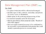 data management plan dmp matt