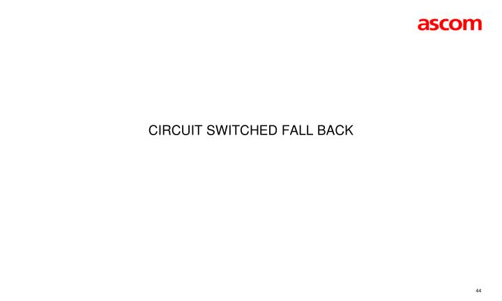 Circuit Switched Fall Back