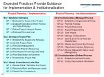 expected practices provide guidance for implementation institutionalization