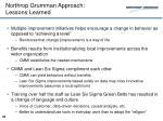 northrop grumman approach lessons learned
