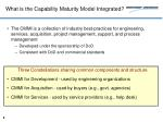 what is the capability maturity model integrated