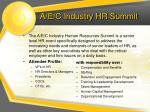a e c industry hr summit