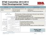 dt e committee 2013 2014 chief developmental tester