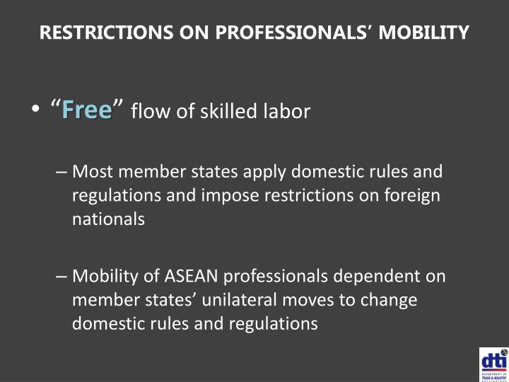 RESTRICTIONS ON PROFESSIONALS' MOBILITY