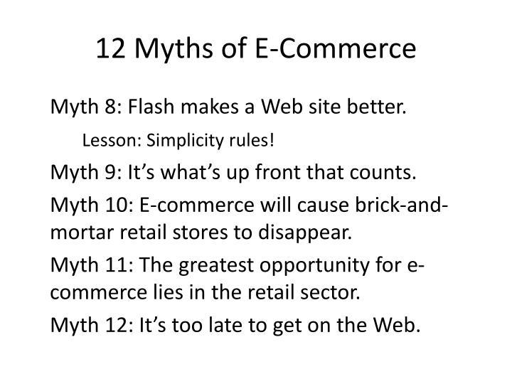 12 Myths of E-Commerce