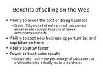 benefits of selling on the web1