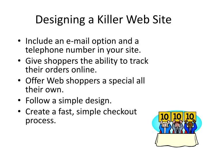 Designing a Killer Web Site