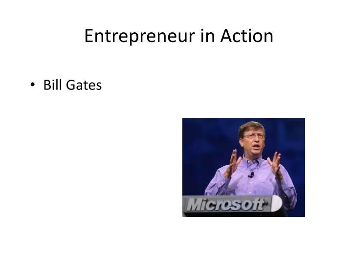 Entrepreneur in Action