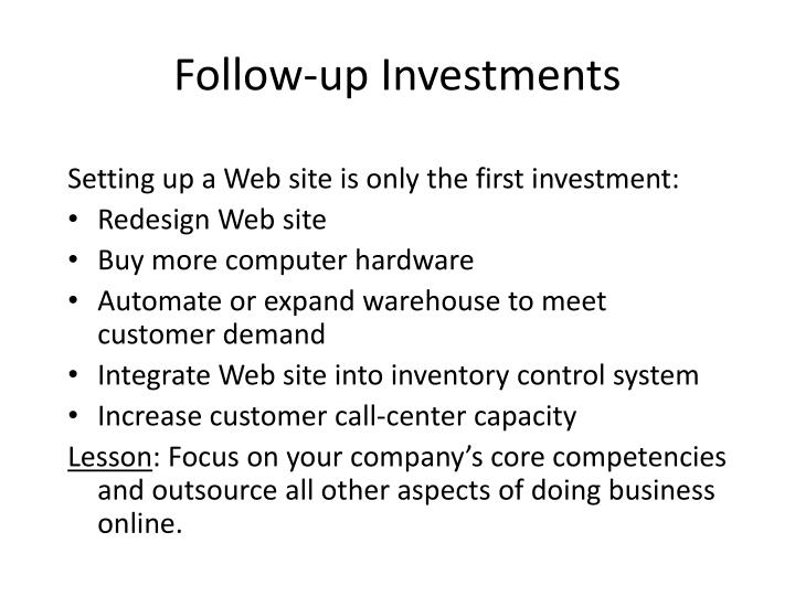 Follow-up Investments