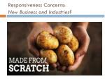 responsiveness concerns new business and industries1