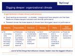 digging deeper organizational climate