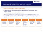 leadership styles drive much of climate
