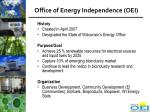 office of energy independence oei