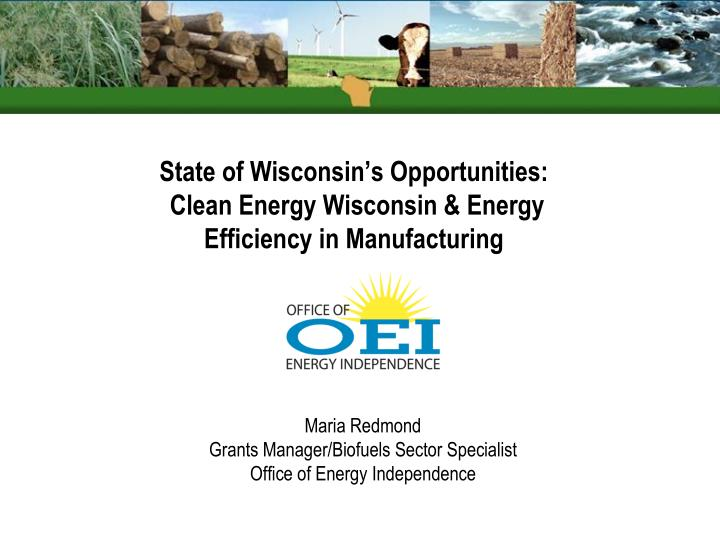 state of wisconsin s opportunities clean energy wisconsin energy efficiency in manufacturing n.