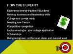 how you benefit