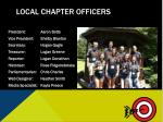 local chapter officers